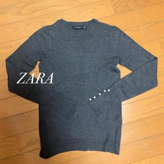 ZARA - ZARAパール付きニット