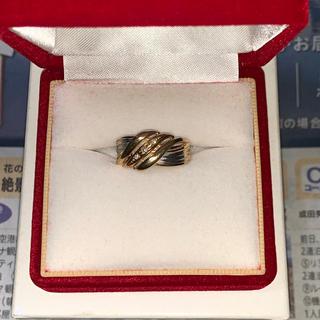 K18  リング レディース ゴールドリング ダイヤ (リング(指輪))