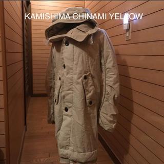 カミシマチナミ(KAMISHIMA CHINAMI)のKAMISHIMA CHINAMI YELLOW 中綿アウター(ダウンコート)