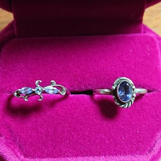 silver925天然石の指輪 2個セット(リング(指輪))