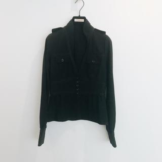 ルシェルブルー(LE CIEL BLEU)のルシェル ブルー ウエストマーク スタンドカラーシャツ 美品(シャツ/ブラウス(長袖/七分))