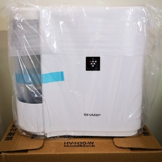 シャープ(SHARP)のSHARP プラズマクラスター 気化式加湿器 HV-H30-W(加湿器/除湿機)