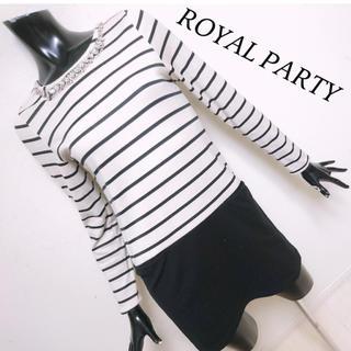 ロイヤルパーティー(ROYAL PARTY)のROYAL PARTY*ビジューワンピース(ミニワンピース)