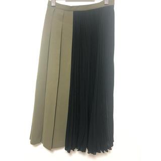 GRACE CONTINENTAL - ダイアグラム バイカラープリーツスカート