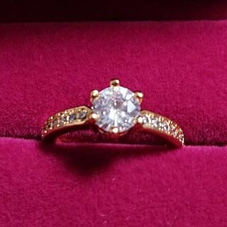 silver925ピンクゴールドキュービックジルコニアの指輪(9号)(リング(指輪))