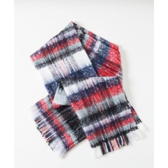 GRACE CONTINENTAL(グレースコンチネンタル)のチェックモヘアストール レディースのファッション小物(マフラー/ショール)の商品写真