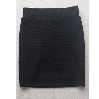 【新品】黒ラメ  タイト ミニスカート