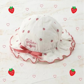 gelato pique - いちご柄帽子