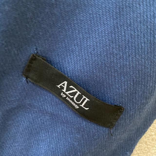 AZUL by moussy - ストール ブルー くすみブルー