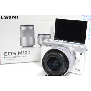 Canon - 極上品❤️Canon EOS M100❤️Wi-Fi機能搭載❤️届いてすぐ使える