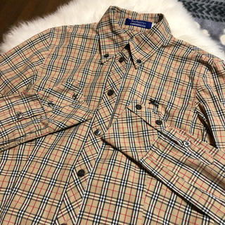 BURBERRY BLUE LABEL - Burberry♡チェック長袖シャツ