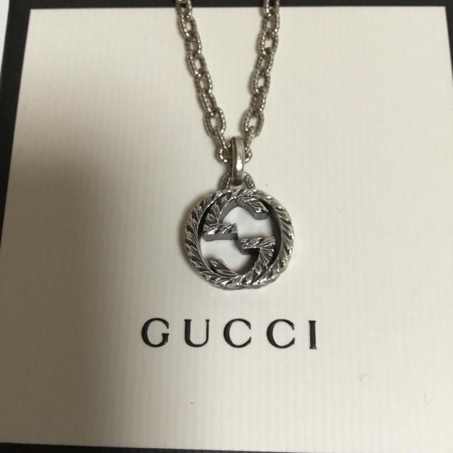 Gucci(グッチ)のグッチ インターロッキングG 燻 ラージサイズ 現行 メンズのアクセサリー(ネックレス)の商品写真