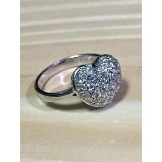 プラチナ ハート型ダイヤパヴェリング(リング(指輪))