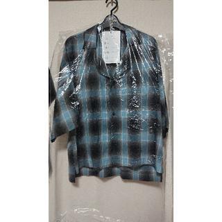 サンシー(SUNSEA)のSUNSEA SHADOW CHECK FRIED SHRIMP SHIT【3】(Tシャツ/カットソー(七分/長袖))