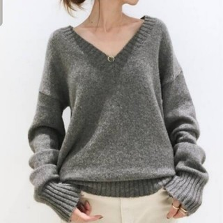 L'Appartement DEUXIEME CLASSE - V/N Basic KNIT グレー