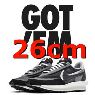 NIKE - 新品 Nike x sacai LDWaffle black 26cm