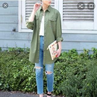 SLY - 処分価格!SLY MILITARYカーキビックシャツ