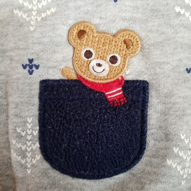 mikihouse(ミキハウス)の100 裏起毛 キッズ/ベビー/マタニティのキッズ服男の子用(90cm~)(Tシャツ/カットソー)の商品写真