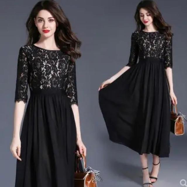 ZARA(ザラ)のパーティードレス ブラック 結婚式 二次会 お呼ばれ レディースのフォーマル/ドレス(ロングドレス)の商品写真