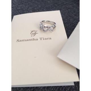サマンサティアラ(Samantha Tiara)の美品 サマンサティアラ リング 保証書付き ハート パヴェダイヤ(リング(指輪))