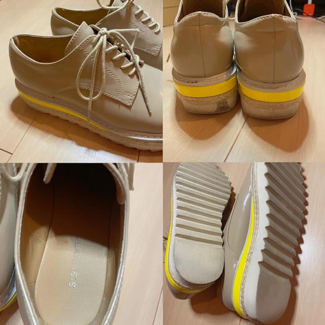 JEANASIS(ジーナシス)の♤定価1万円♤レースアップ マニッシュシューズ おじ靴 ローファー ベージュ レディースの靴/シューズ(ローファー/革靴)の商品写真