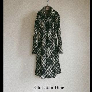 Christian Dior - 超高級 クリスチャンディオール 一級品エレガントコート 豪華おしゃれデザイン