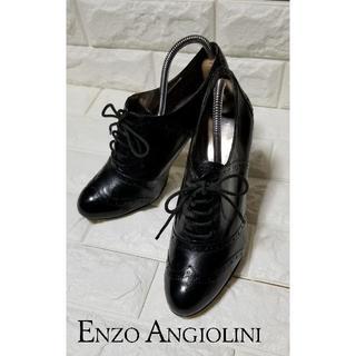 エンゾーアンジョリーニ(Enzo Angiolini)の【Enzo Angiolini】ブーティー サイズ7M(24.0cm)黒(ブーティ)