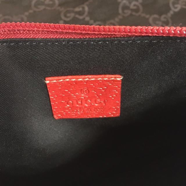 Gucci(グッチ)のGUCCI グッチ アクセサリーポーチ レッド ネイビー ヴィンテージ レディースのファッション小物(ポーチ)の商品写真
