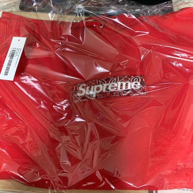 Supreme(シュプリーム)のSupreme box logo Hooded red Lサイズ bandana メンズのトップス(パーカー)の商品写真