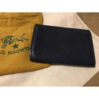 イルビゾンテ(IL BISONTE)の期間限定価格◆イルビゾンテ 正規品 本革 名刺入れ カードケース ネイビー(名刺入れ/定期入れ)