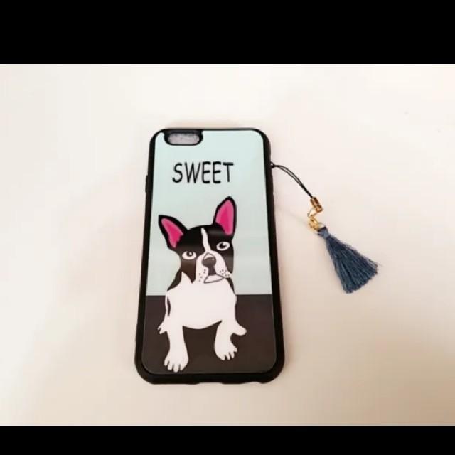 送料無料!iPhoneケース!犬 アニマル プレセント 人気 可愛い スマホ/家電/カメラのスマホアクセサリー(iPhoneケース)の商品写真