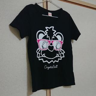 ロデオクラウンズ(RODEO CROWNS)の処分価格!crystal ball × RODEO CROWNS黒Tシャツ(Tシャツ(半袖/袖なし))