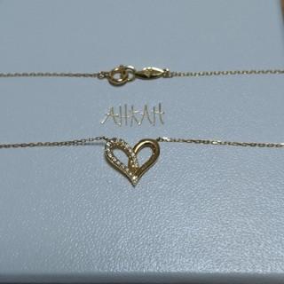 AHKAH - AHKAH k18 フィルージュハートミディ(ハーフ) ネックレス