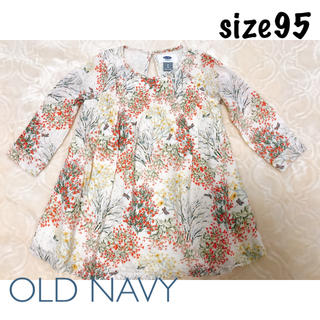 Old Navy - OLD NAVY サイズ95 ボタニカル柄 ワンピース