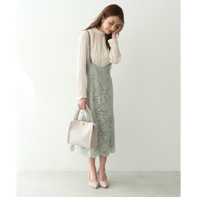 PROPORTION BODY DRESSING(プロポーションボディドレッシング)のコードレースジャンパースカート レディースのワンピース(ひざ丈ワンピース)の商品写真