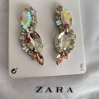 ZARA - ZARA ラインストーンピアス ザラ ピアス 大ぶり 新品未使用