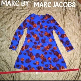 マークバイマークジェイコブス(MARC BY MARC JACOBS)のMARC BY MARC JACOBS レトロ柄 フレアワンピース(ひざ丈ワンピース)