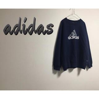 adidas - 90's 古着 adidas  プルオーバー ロゴ スウェット ユニセックス
