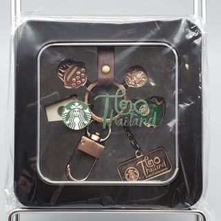 Starbucks Coffee - 海外限定★スターバックス タイ進出20周年記念のキーホルダー■ブロンズ