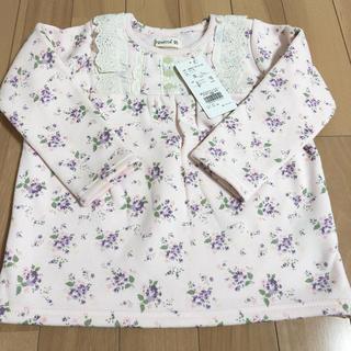 ビケット(Biquette)の新タグ付き❤ビケット 長袖 トップス ピンク 花柄 95(Tシャツ/カットソー)