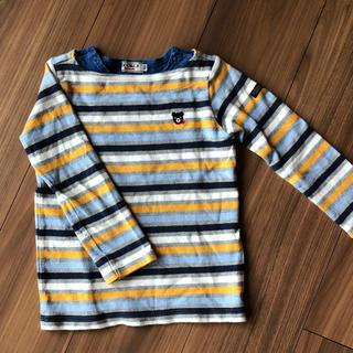 DOUBLE.B - ミキハウス ボーダー ロングTシャツ 100