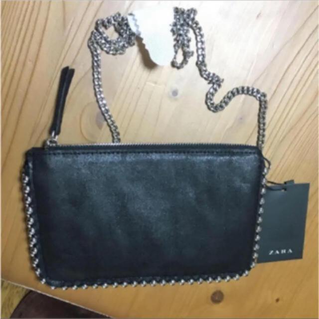 ZARA(ザラ)のzara    スタッズ チェーン ウォレット レディースのバッグ(ショルダーバッグ)の商品写真