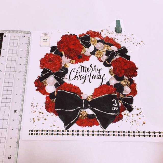 ポーセラーツ 転写紙 クリスマスリース ハンドメイドの素材/材料(各種パーツ)の商品写真