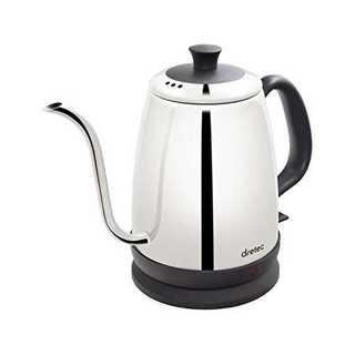 シルバーdretec(ドリテック) 電気ケトル ステンレス コーヒー ドリップ