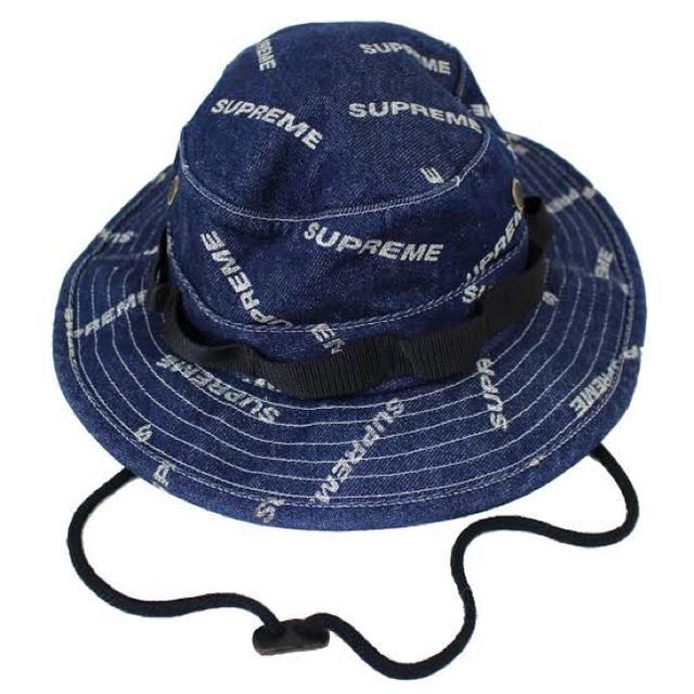 Supreme(シュプリーム)の 17ss supreme denim logo boonie ハット デニム  メンズの帽子(ハット)の商品写真