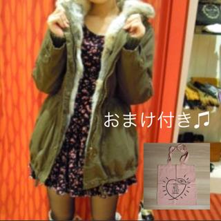ココディール(COCO DEAL)の【ココディール】ラビットファーモッズコート♡(モッズコート)