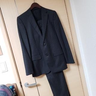 アオキ(AOKI)の美品 AOKI購入 MAJI 黒ストライプ セットアップスーツ Y6(セットアップ)