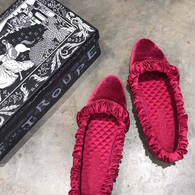 F-TROUPE(エフトゥループ)のf-troupe キルティングフラットシューズ チェリッシュ レディースの靴/シューズ(バレエシューズ)の商品写真