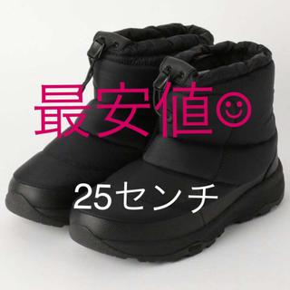 ザノースフェイス(THE NORTH FACE)の新品未使用 ノースフェイス ヌプシ ブーティー ショート ブーツ 25センチ(ブーツ)