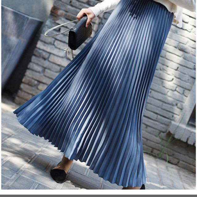 プリーツスカート レディースのスカート(ロングスカート)の商品写真